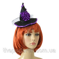 Шляпка на ободке Ведьмочки с розой