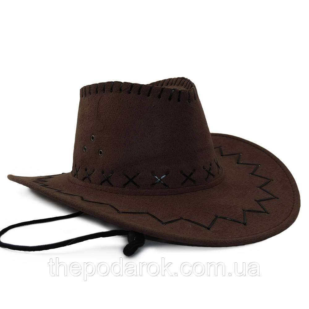 Шляпа детская Ковбой (коричневая)