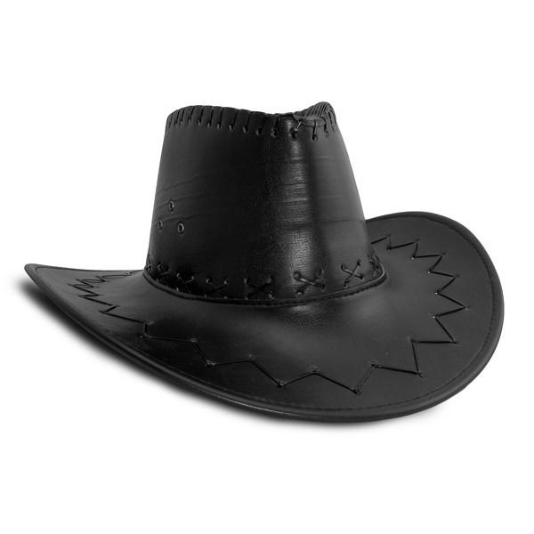 Шляпа Ковбоя кожа (черная)