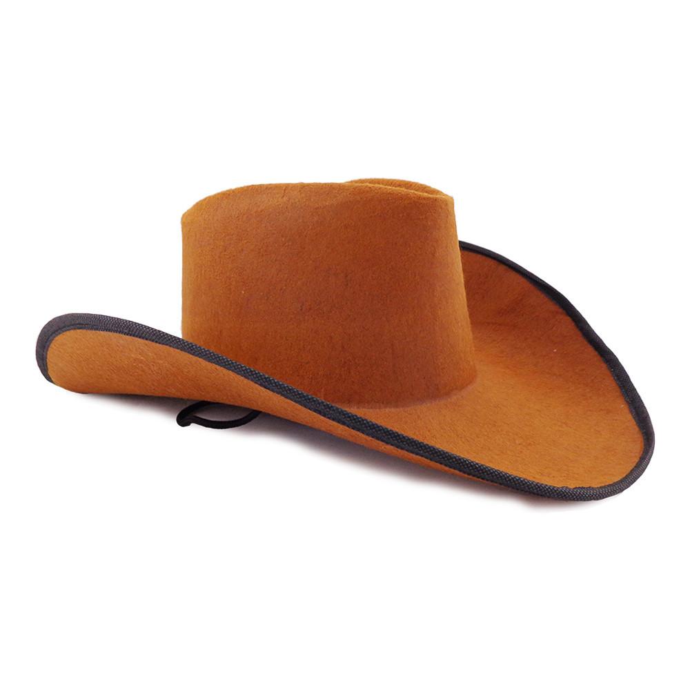 Шляпа Ковбоя фетр (коричневая)