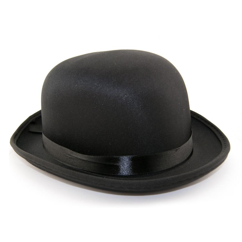 Шляпа Котелок атласный (черный)
