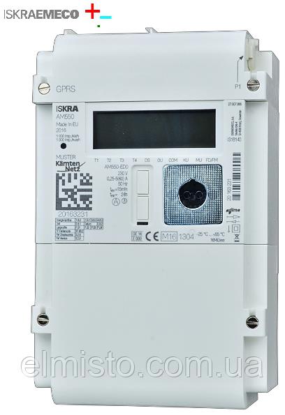 Модульный электронный счетчик AM550-E (Iskraemeco) 1ф. 2пр. 5(85)А 220В многотарифный