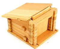 Деревянный конструктор Гараж с воротами на 40 дет.