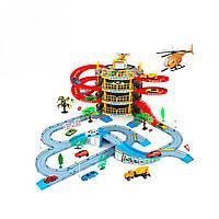 Детский игровой гараж (4 уровней парковки,2 машинки,1 вертолет) (В922-10)