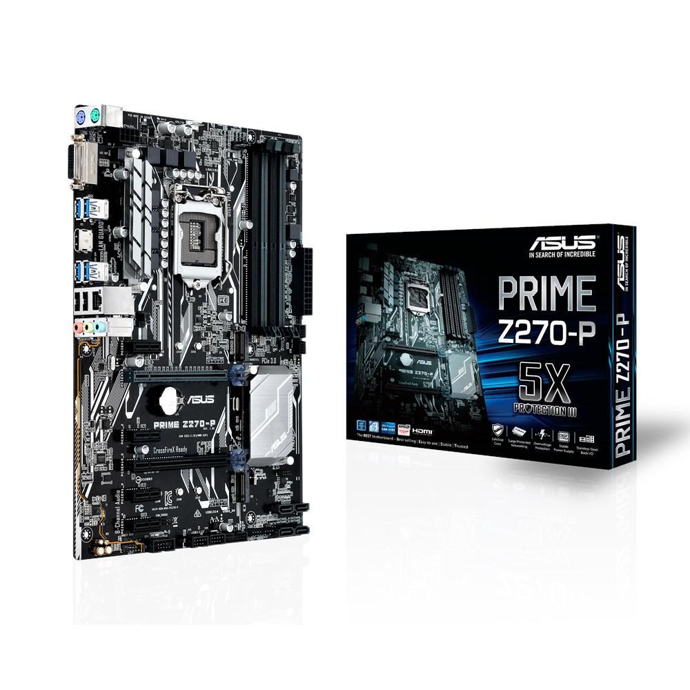 Материнская плата ASUS PRIME Z270-P (s1151/Z270/VGA/PCI-E/SATA III)