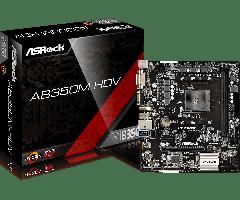 Материнская плата ASRock AB350M-HDV (sAM4/B350/VGA/PCI-E/SATA III)