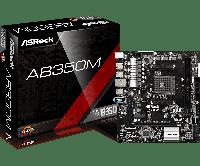 Материнская плата ASRock AB350M (sAM4/B350/VGA/PCI-E/SATA III), фото 1