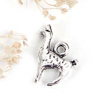 "Подвеска Животное "" Альпака "", Цинковый сплав, Цвет: Античное серебро, 17 мм x 13 мм"