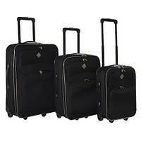 Набор чемоданов на колесах Bonro Best Черный 3 штуки