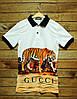 Поло мужское Supreme Gucci tiger white (реплика)