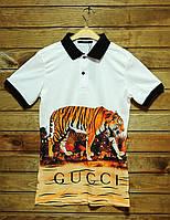 Поло мужское Supreme Gucci tiger white (реплика), фото 1