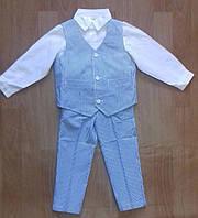 Костюм для малышей: рубашка + жилет + брюки