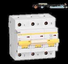 Автоматический выключатель ВА47-100 3P 100A  IEK