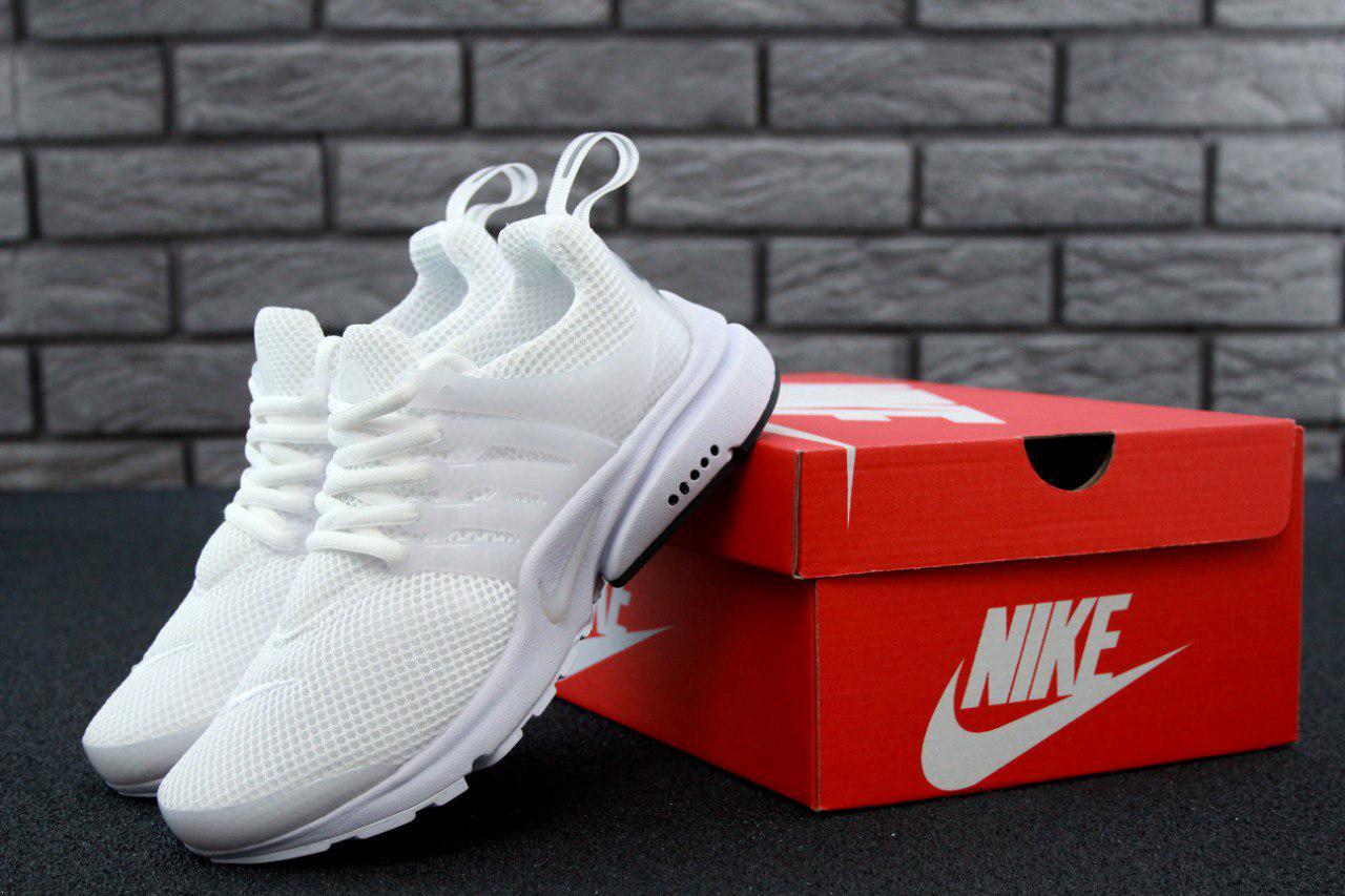 Женские кроссовки Nike Air Presto All White. Живое фото (Реплика ААА+)