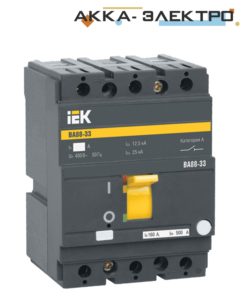 Автоматичний вимикач ВА88-33 3P 40A IEK