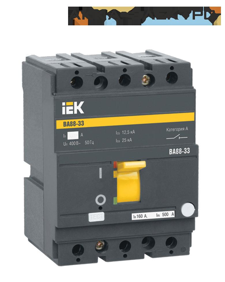 Автоматический выключатель ВА88-33 3P 100A  IEK