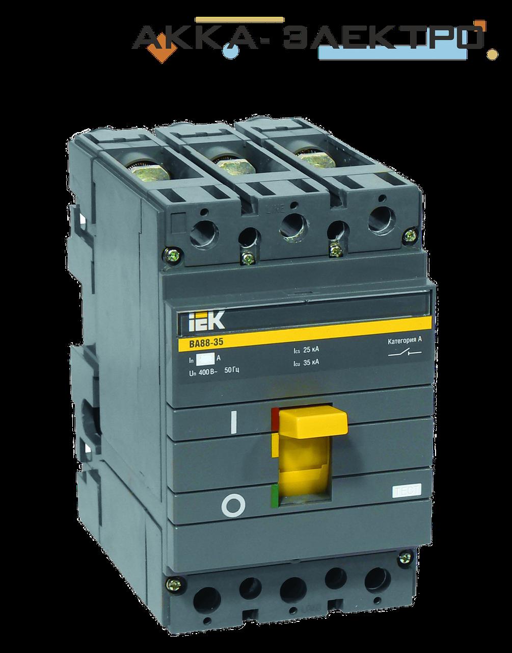 Автоматический выключатель ВА88-35 3P 125A  IEK