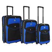 Набор чемоданов на колесах Bonro Best Черно-синий 3 штуки