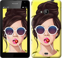 """Чехол на Microsoft Lumia 535 Девушка с чупа-чупсом """"3979c-130-328"""""""