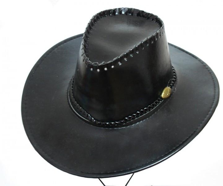 Шляпа Ковбоя лаковая (черная)