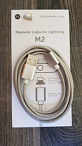 Магнітний кабель Moizen M2 iPhone Lightning Магнитный (iPhone сable)
