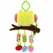Мягкая подвеска - погремушка Сова Happy Monkey, фото 2