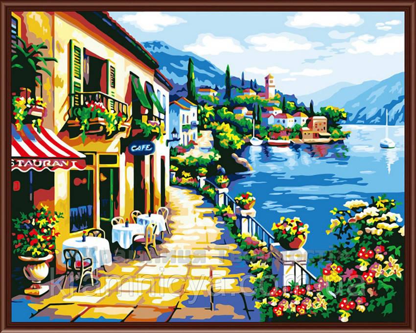 Картина по номерам 40х50 Лазурный берег (G239)