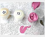 Картина по номерам 40х50 Белые розы (G439), фото 7