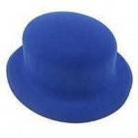 Шляпа Котелок флок (синяя)