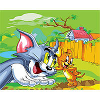 Картина по номерам 40х50 Том и Джерри (GX6239), фото 1