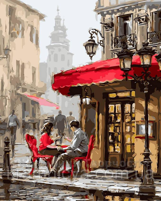 Картина по номерам 40х50 Лондонское кафе (GX8089)