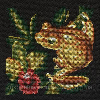 Набор для вышивания крестом Panna J-0399 Золотая лягушка