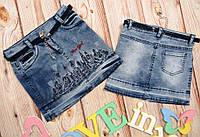 Модная джинсовая юбка для девочек Нью-Йорк