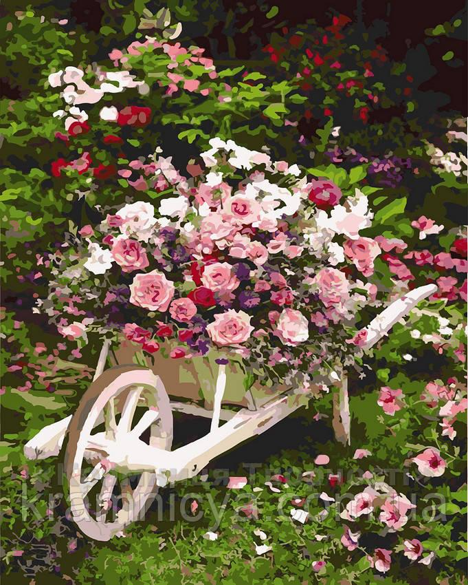 Картина за номерами 40х50 Рожевий кущ (GX8847)