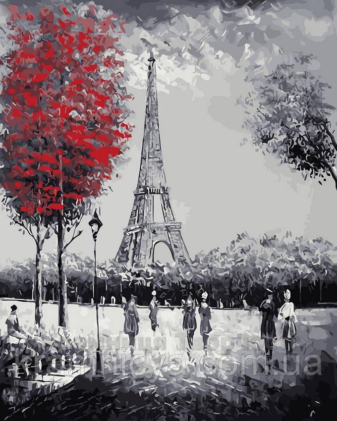 Картина по номерам 40х50 Прогулка к Эйфелевой башне (GX4058)