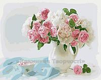 Картина по номерам 40х50 Нежные розы (GX4116)