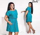 Удобное и легкое платье с карманами в размерах 50-52,54-56, фото 3