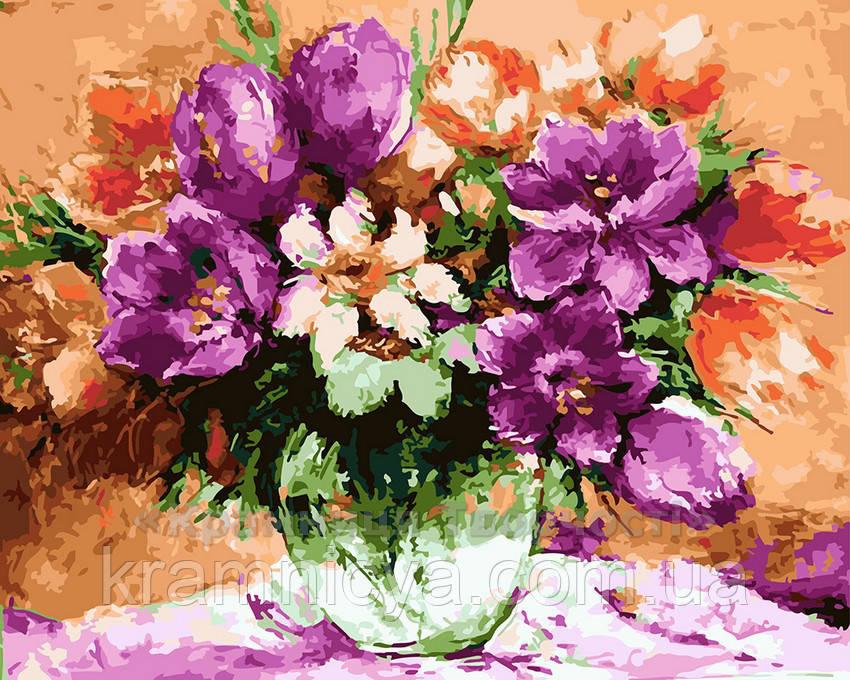 Картина по номерам 40х50 Цветочный натюрморт (GX21527)