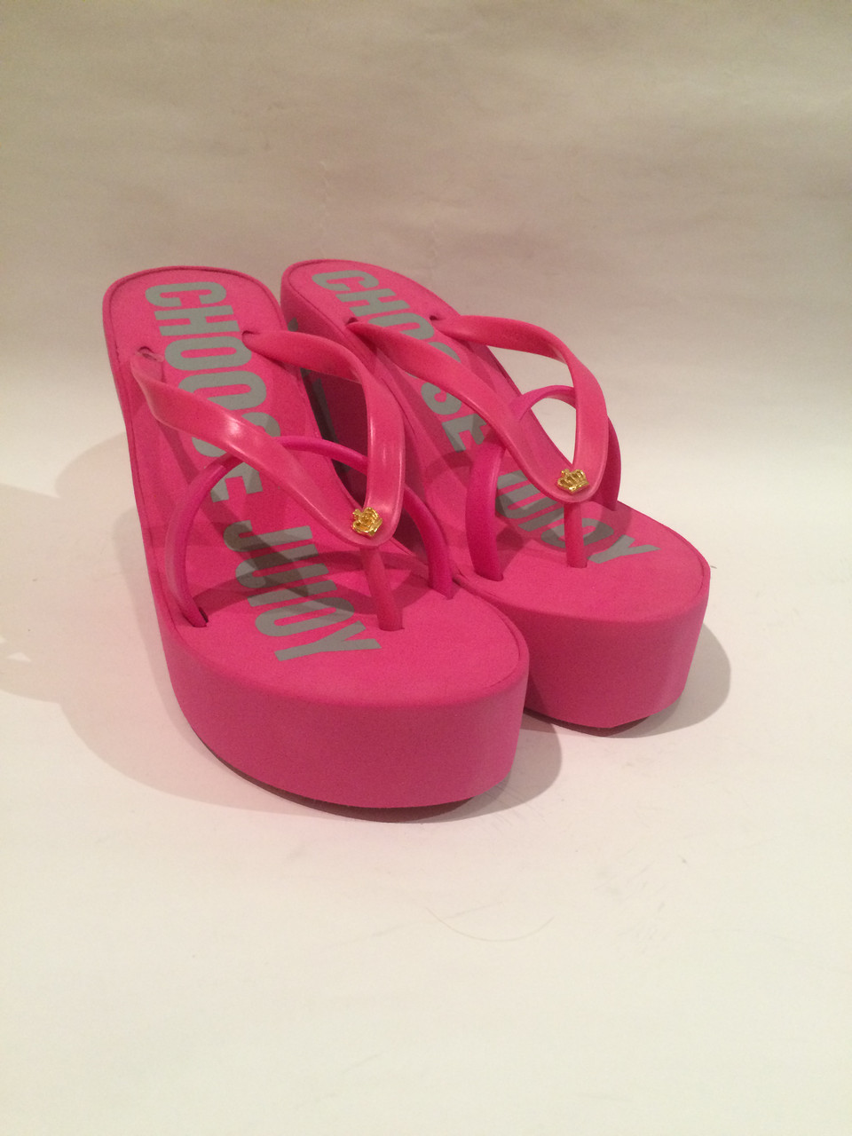 Розовые шлепанцы Juicy Couture (Джуси Кутюр) , копия