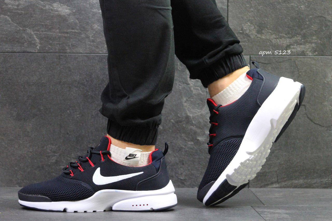 Модные кроссовки Nike Air Presto Fly Uncaged темно синие с белым 44р