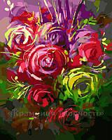 Картина по номерам 40х50 Яркие розы (GX23434)