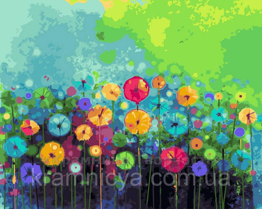 Картина по номерам 40х50 Цветочная палитра (GX23514)