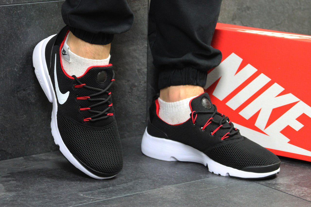 Модные кроссовки Nike Air Presto Fly Uncaged черно белые 44р