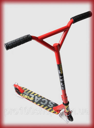 Трюковый самокат для начинающих Scale Sports Tornado красный