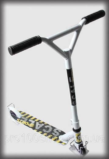Трюковый самокат для новичков Scale Sports Tornado белый