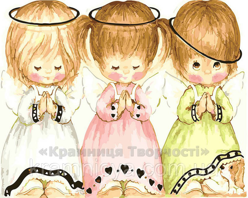 Картина по номерам 40х50 Три ангелочка (GX22243)