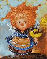 Картина по номерам 40х50 Солнечный аннгел с пчёлкой (GX3913), фото 1