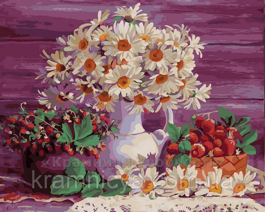 Картина по номерам 40х50 Ромашки и ягоды (GX4124)