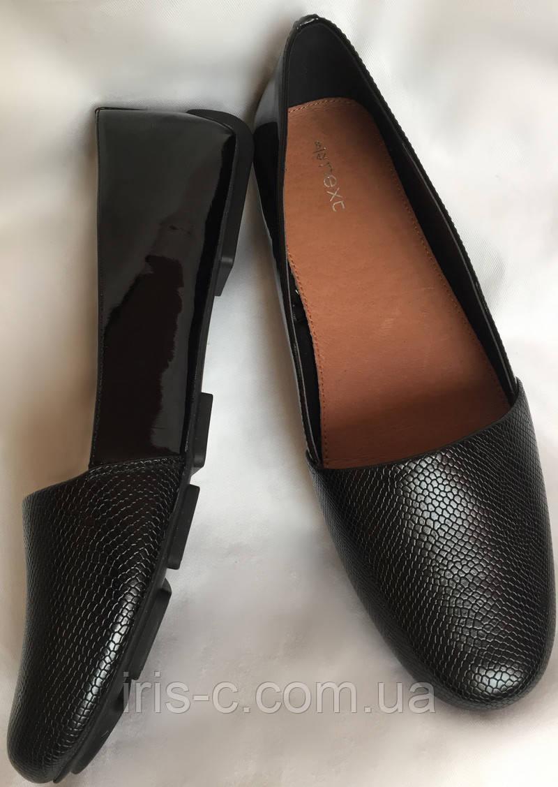 Туфли балетки, Next, легкие, искусственная лакированная кожа размер 39/40