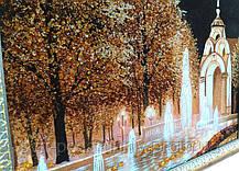 Фонтан Зеркальная струя Харьков ночью пейзаж из янтаря, фото 2